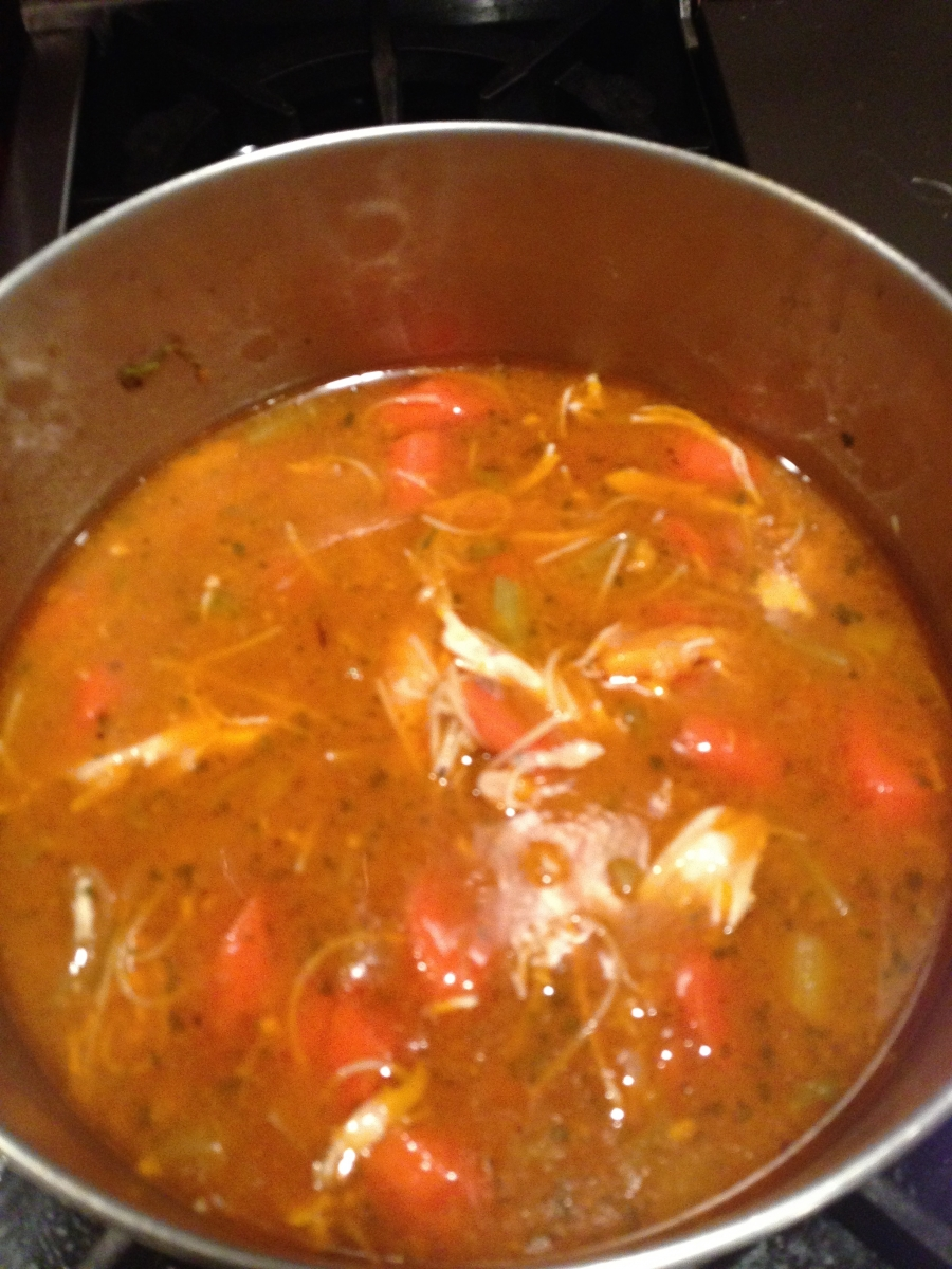 Chicken soup with tomato