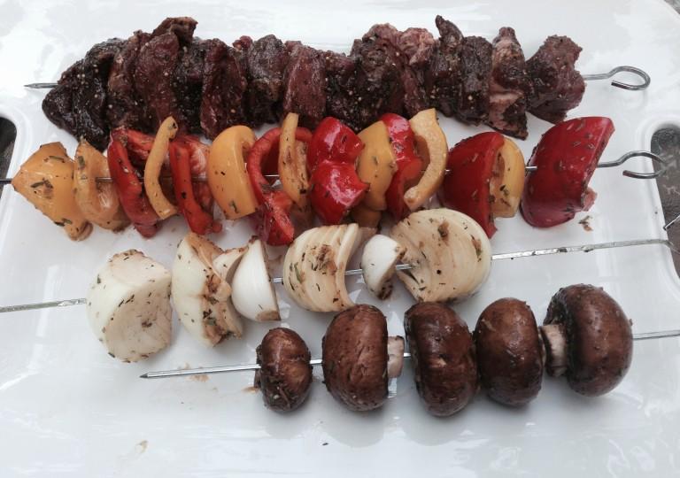 Beef & Veggie Shish Kabobs
