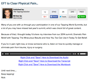 tappingtoclearpain