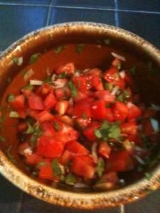 Tomato, Avacado, Onion Salad