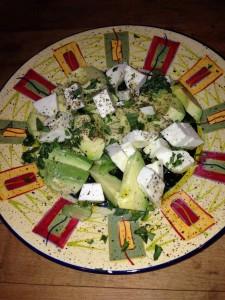 Avacado feta salad